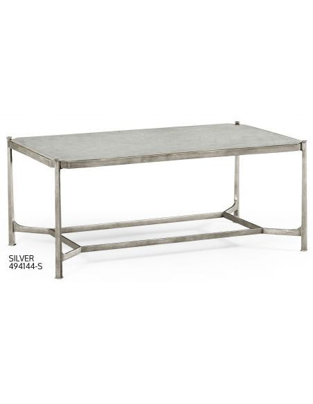Coffee Tables Contemporary Rectangular Glass Top Coffee Table-46