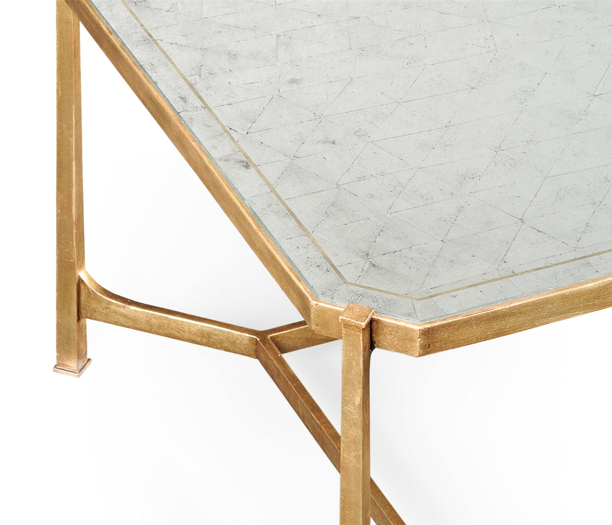 Contemporary rectangular glass top coffee table 46 for Rectangular coffee table with glass top