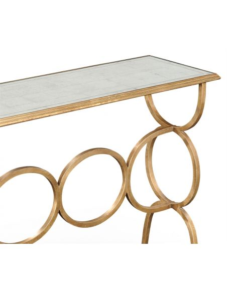 Narrow Rectangular Console Table-58