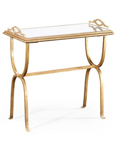 Console & Sofa Tables Wrought Iron Rectangular Side Table-71