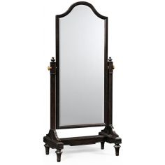 Black ebonised full length mirror