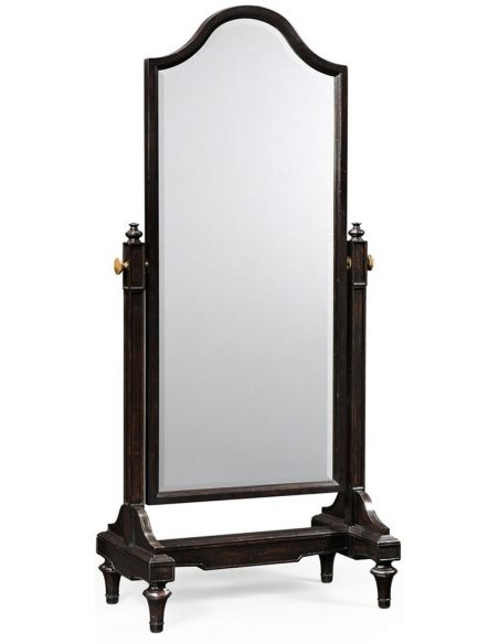 Mirrors, Screens, Decrative Pannels Black ebonised full length mirror