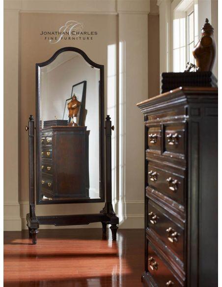 Black ebonised full length mirror