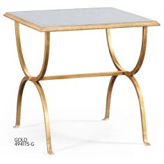 Contemporary Glass Top Square Side Table-77