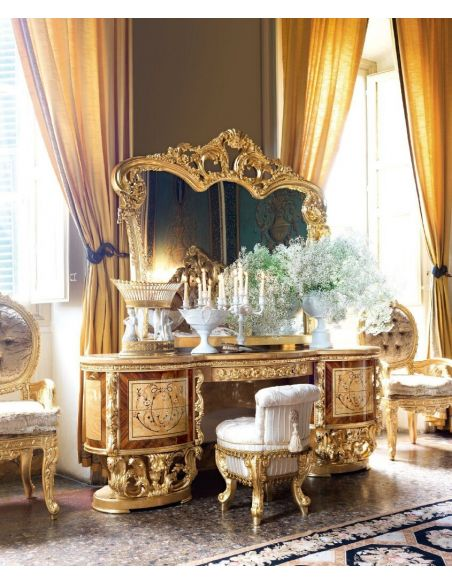 Furniture Masterpieces Impressive Empire Style Vanity or Dressing Table