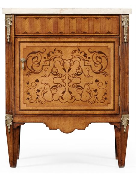 Square & Rectangular Side Tables Italian style Antique Side Cabinet-79
