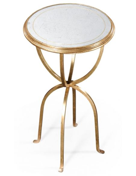 Modern Furniture Glass Top Round Side Tables-81