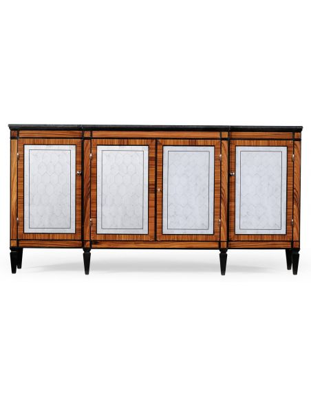 Breakfronts & China Cabinets Neo Classically Breakfront Credenza-86