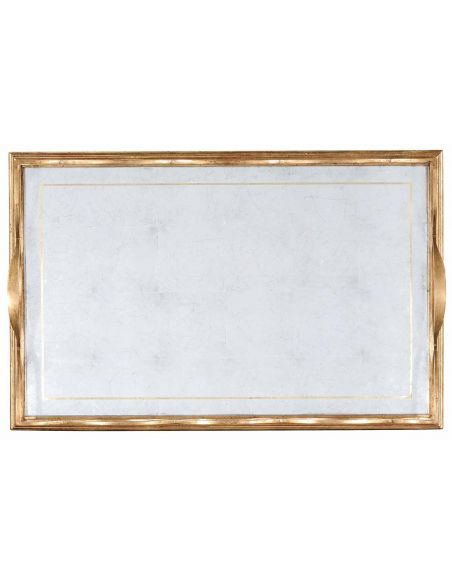 Square & Rectangular Side Tables Iron Large Rectangular Serving Tray-03