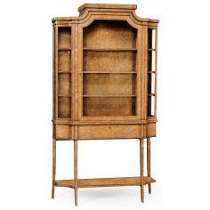 Biedermeier Display Wood Cabinet-18