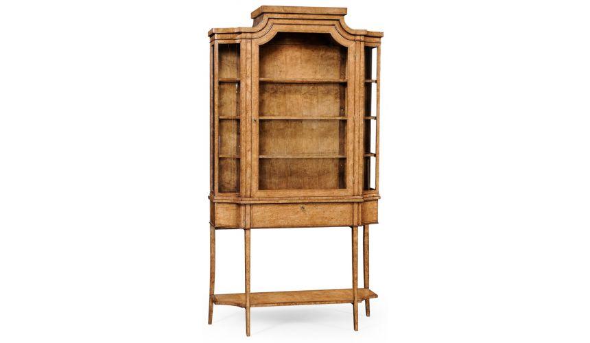 Breakfronts & China Cabinets Biedermeier Display Wood Cabinet-18