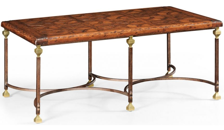 Coffee Tables Rectangular Parquetry-Top Coffee Table-40