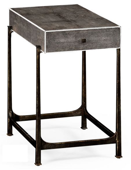 Square & Rectangular Side Tables Contemporary Styled Wrought Iron Framed Sofa Table-58