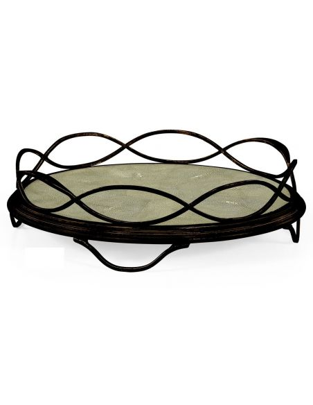 Square & Rectangular Side Tables Contemporary Wrought Iron Circular Serving Tray-72