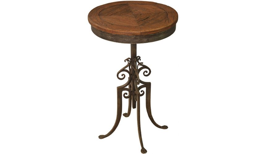 Round & Oval Side Tables Pewter Finish Cafe Table