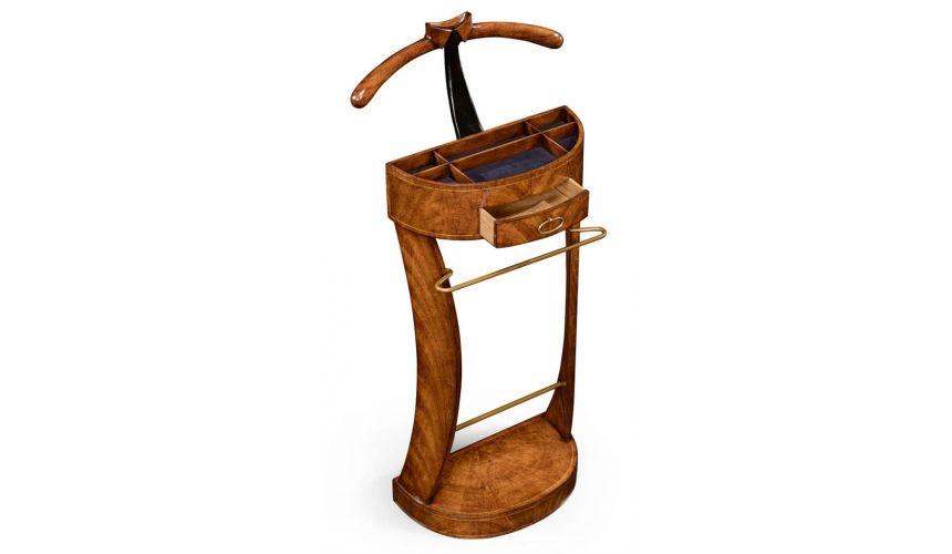 Decorative Accessories Crotch Walnut Veneered Valet Stand-98