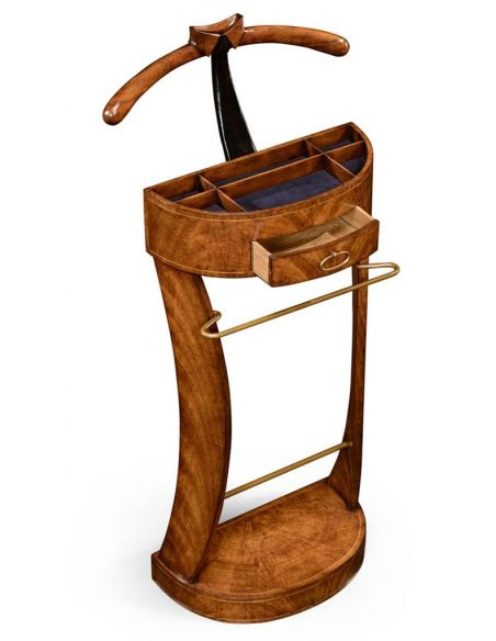 Decorative Accessories Crotch Walnut Veneered Valet Stand-98