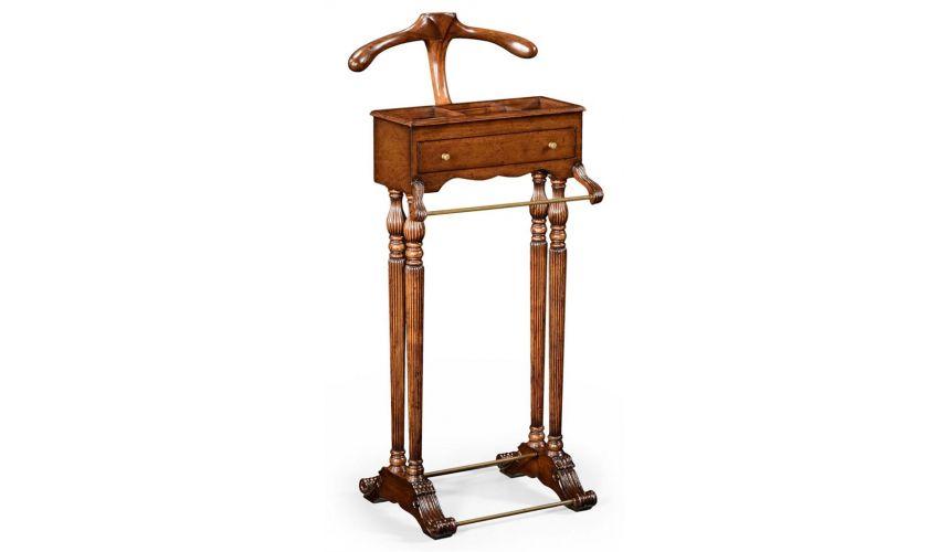 Executive Desks Walnut Veneered Regency Style Valet Stand-99