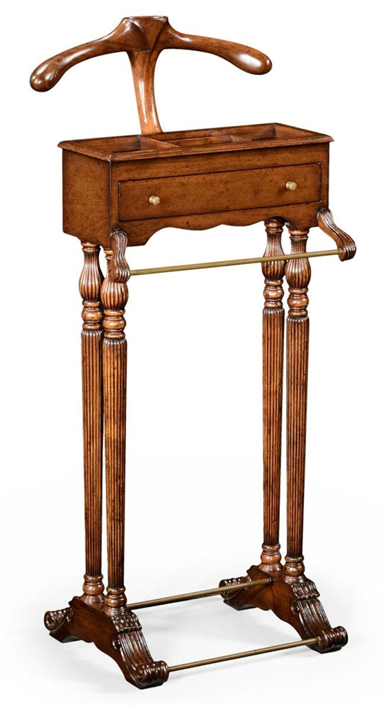Executive Desks Walnut Veneered Regency Style Valet Stand 99