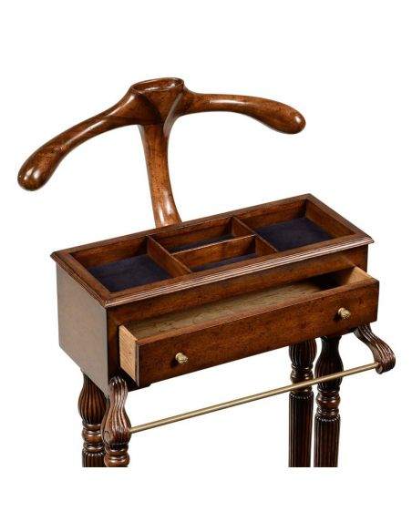 Executive Desks Walnut Veneered Regency Style Valet Stand-99