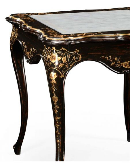 DINING ROOM FURNITURE Elegant Table with Black Painted Side-08