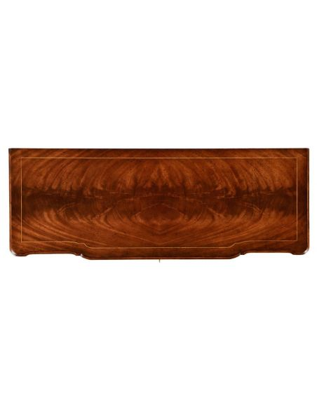 Mahogany Veneered Chest of Drawers-20