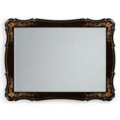 Black Painted Rectangular Mirror-24