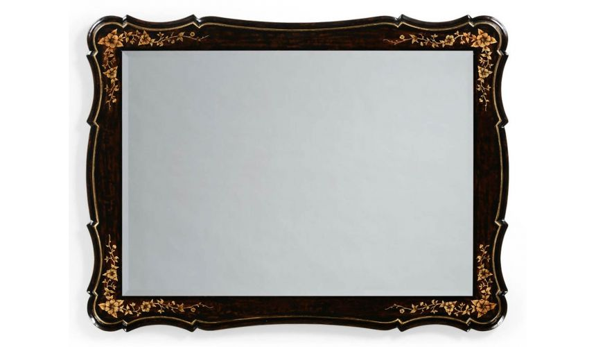 Black Painted Rectangular Mirror-24