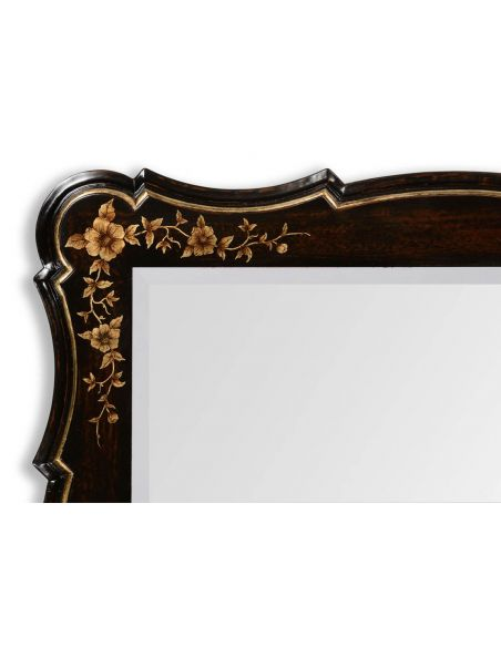 Black Painted Square Mirror With Designing-25