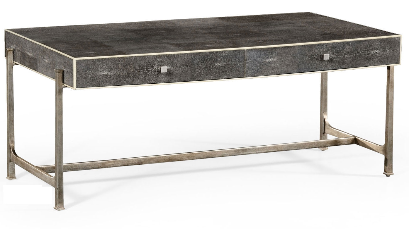 Wrought Iron Framed Coffee Table 26