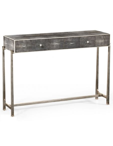 Contemporary Styled Wrought Iron Framed Console Table-27