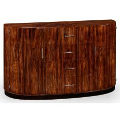 Art Deco Style Demilune Sideboard with Four Drawers-31