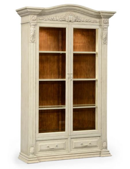 Grey Painted and Distressed Glazed Armoire-36