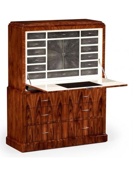 Breakfronts & China Cabinets Art Deco Style Secretaire Cabinet-37