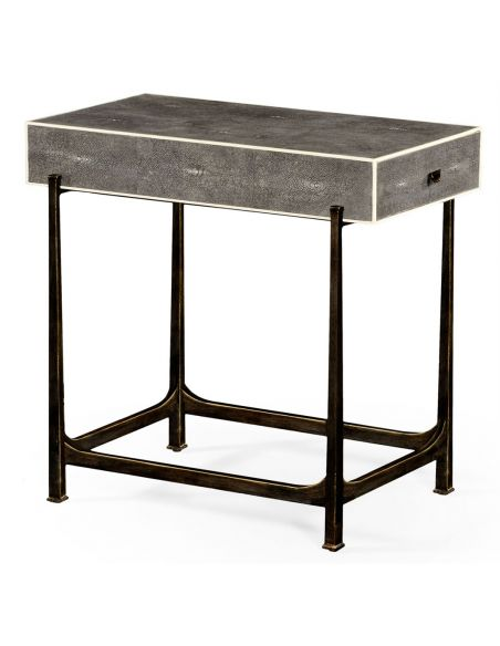 Styled Wrought Iron Framed Sofa Table-51