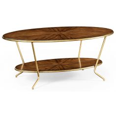 Contemporary Styled Oval Coffee Table-59