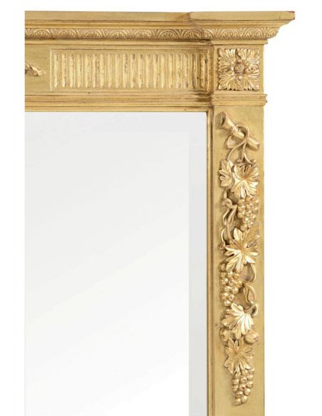 French style Large Rectangular Gilded Mirror-61