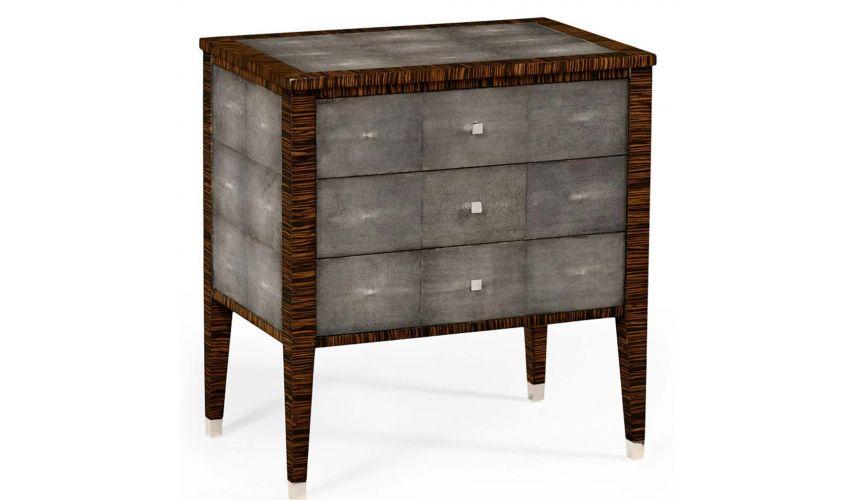Square & Rectangular Side Tables Art Deco Styled Faux Macassar Ebony Veneered-67