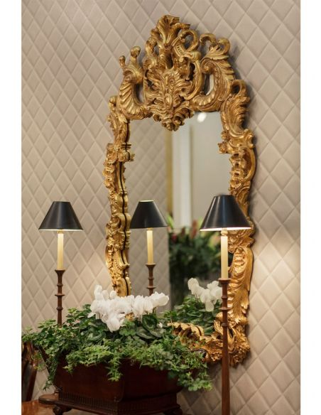 Foyer and Center Tables Antique Framed Decorative Wall Mirror-74