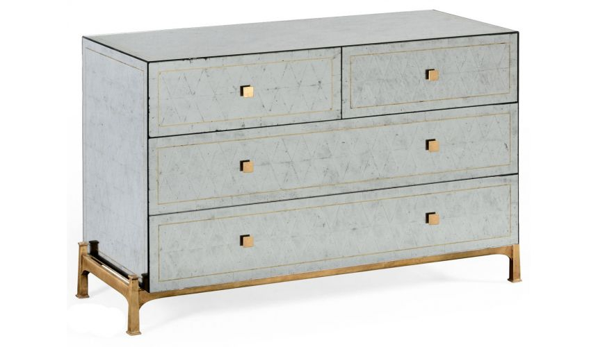 Contemporary Handpainted Chest of 5 Drawers-83