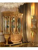 Home of the Czar Collection. Elegant two glass door display cabinet