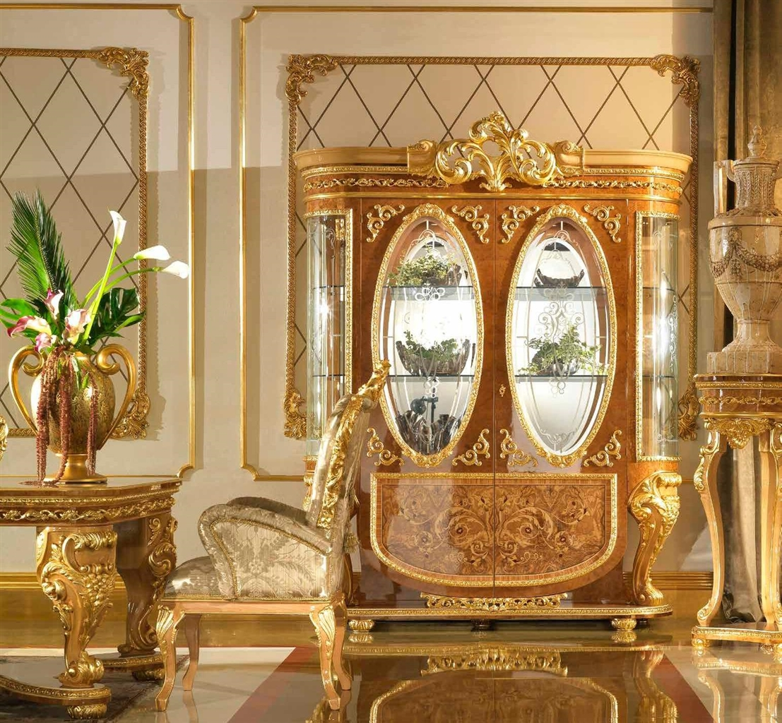 Breakfronts U0026 China Cabinets Home Of The Czar Collection. Elegant Two Glass  Door Display Cabinet