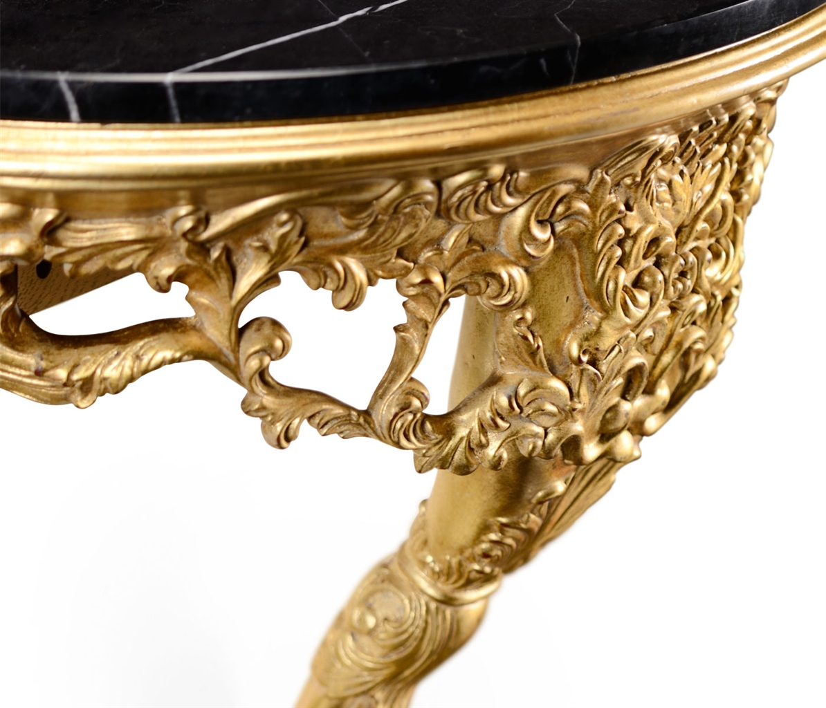Rococo Style Gilded Living Room Console Table-01