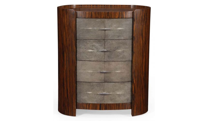 Square & Rectangular Side Tables Luxurious Art Deco Style Faux Macassar-06