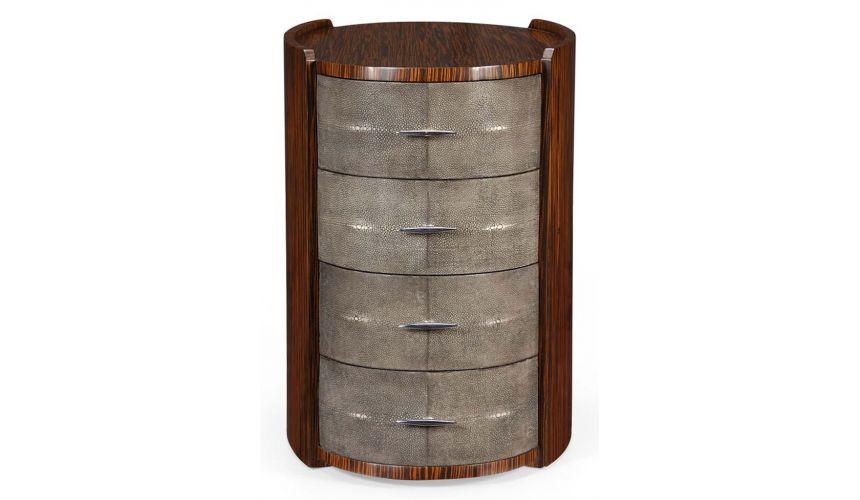 Square & Rectangular Side Tables Art Deco Faux Macassar-07