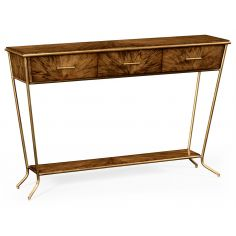 Contemporary Styled Console Table with 3 Drawers-16