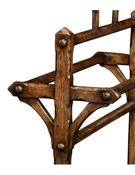 Square & Rectangular Side Tables Dark Oak Victorian Gothic style Towel Rack-20