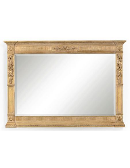 Foyer and Center Tables Large Rectangular Gilded Mirror-40