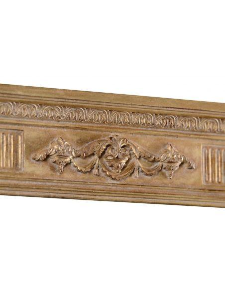 Large Rectangular Gilded Mirror-40