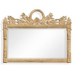 Large Rectangular Gilded Wall Mirror-41